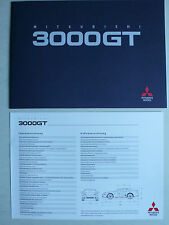 Prospekt Mitsubishi 3000 GT, 1992, 16 Seiten + Datenblatt