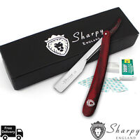 Barber Straight Cut Throat Shaving Razor Rasoirs Rasoi Salon +10 Blades Gift Set