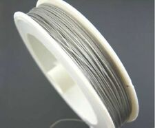 Silver Tone Tiger Tail Beading Wire 0.45 mm 50 metres