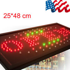 Bright Animated Led Open Store Shop Business Sign neon Display Lights Usa 2-7d
