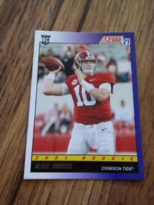 "2021 Score ""1991 Throwback"" Mac Jones Rc NM New England Patriots Alabama ROY?"