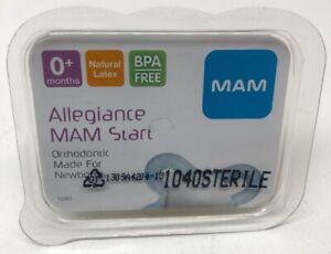 New 1040 MAM Orthodontic Natural Latex Pacifier Made For Newborns BPA Free