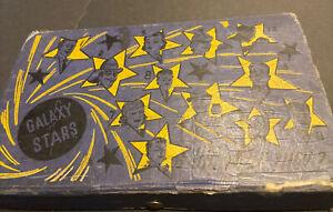 """c. 1936 """"GALAXY STARS"""" PENCIL BOX ~BASEBALL LEFTY GOMEZ(HOF) YANKEES~JOE LOUIS++"""