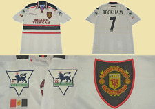 Manchester united 1998 1999 jersey away white beckham shirt premier league