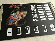 MARS ICE CREAM VAN/CAFE TRAILER SHOP PARLOUR STICKERS BUNTING WALLS POS