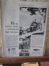 Vintage Print,INDIAN MOTORCYCLES,April 1930,Saturday Evening Post