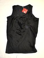 Womens PUMA by HUSSEIN CHALAYAN UM Twist Drape Top Shirt Black size M $88