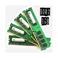 4GB (4x 1GB) MEMORIA RAM DDR2 1GB DIMM COMPUTER FISSO DESKTOP PC INTEL AMD.