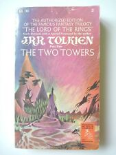 THE TWO TOWERS by J.R.R. TOLKIEN 1970 VINTAGE BALLANTINE PB FANTASY NOVEL RINGS