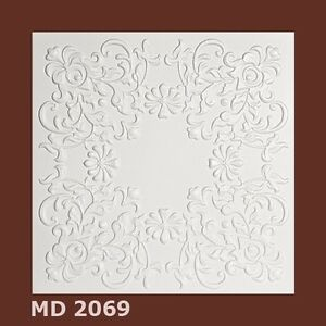 1m² Deckenplatten Styroporplatten Decorplatten   -Neu-  MD 2069