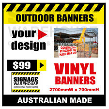 Custom Outdoor Vinyl Banner Sign  - 2700mmW x 700mmH Signage Warehouse