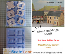 NEW NS05 Stone Building Mould - Model Railway Scenery - ScaleCast