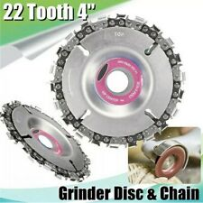 4 Inch Angle Grinder Disc 22 Tooth Chain Saw for Wood Carving Cutting Tool