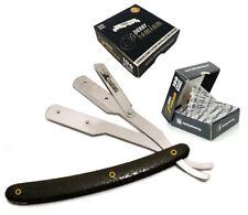 Atención al cliente-Patrón Negro borde recto de acero inoxidable barbero  Razor +100 Derby Premium Single 9674f1d6be50