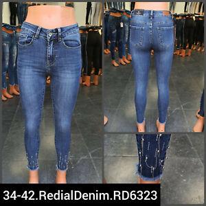 Women High Waist Stretch skinny Ripped Slim faded Denim Pants Jeans ladies pants