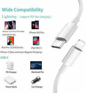 USB-C TYPE C 3.1 Male to iPhone Data Charge Cable For iPhone MacBook iPad 1M 2M