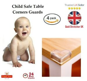 4 Baby proof Safety Glass Desk Table Edge Corner Cushion Guard Protector Bumper