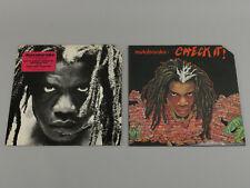 "Lot of 2 Mutabaruka Alligator Records Check It LP & Johnny Drughead 12"" VG+/EX"