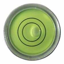 Niveau à Bulle d'Air Circulaire Rond Bulls Eye Métallique (Liquide Vert)