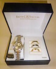 Jaclyn Smith Damen Armbanduhr Uhr Strass austauschbare Lunette gold silber - NEU