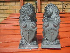 pair of welcome lions latex moulds..,,-