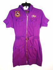 Coogi Hooded Mini Dress, Purple, Size: L,  (Pre-Owned), Hip Hop, Rap