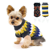 Dog Sweaters for Small Dogs Boy Chihuahua Clothes Pet Cat Christmas Jumper Black