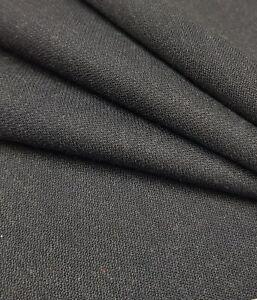 Anzugstoff anthrazit meliert 55%Polyester/45%Schurwolle Meterware