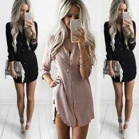 Fashion Sleeve Summer Shirt Blouse Long Tops Casual Women's Ladies Loose T-Shirt