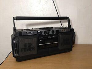 SHARP WQ-T252 Radio Cassette Recorder Spectrum Analyser Twin Tape Mechanism