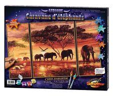 Schipper 609260455 Malen nach Zahlen für Erwachsene Elefanten Karawane 50x80 cm