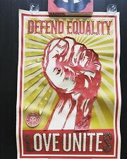 """Shepard Fairey """"Equality"""" poster print - custom embellish & signed by Tabatha Co"""