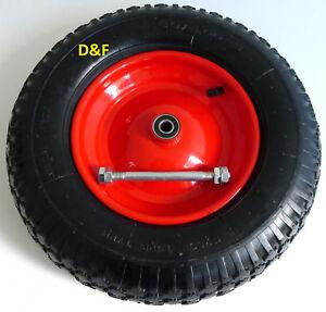 Schubkarrenrad Ersatzrad luftbereift 4.80/4.00-8 inkl. Achse, Schubkarrenreifen