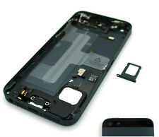Per iPhone 5 Space Grey alloggiamento posteriore con le parti prefitted-Cover posteriore in metallo