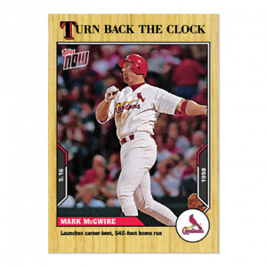 🛑 MARK McGWIRE 2021 TOPPS NOW TURN BACK THE CLOCK #46 ST. LOUIS CARDINALS 🔥