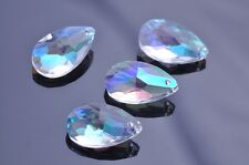 5pcs 22x13mm Teardrop Faceted Crystal Glass Charms Loose Beads Pendants Clear AB