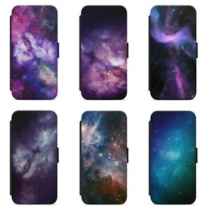 Galaxy Nebula Space Cosmos Stars WALLET FLIP PHONE CASE COVER FOR IPHONE MODELS