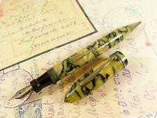 Yellow Marble Southern Pen Co. Fountain Pen Pencil Combo Pen Oversize - restored