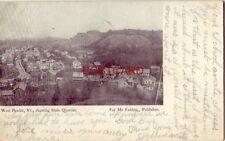 pre-1907 WEST PAWLET,, VT. SHOWING SLATE QUARRIES 1907