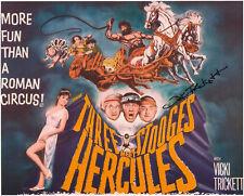 The 3 Three Stooges signed photo VICKI TRICKETT Meet Hercules classic film RARE