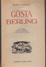 C1 SUEDE Selma LAGERLOF  Gosta Berling 1946 PRIX NOBEL Varmland