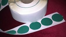 10 - 60mm  GREEN FELT BAIZE round DISCS self adhesive - protect, craft, cover