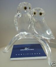 SWAROVSKI SILVER CRYSTAL OWLS NEW 3/4 2009   1003312  MINT IN BOX