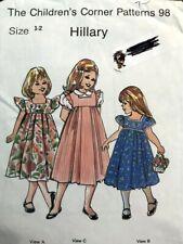 Children's Corner Pattern Hillary, cut/complete, sizes 1-2