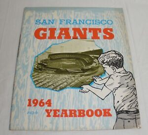 1964 San Francisco Giants Yearbook Willie Mays McCovey Cepeda nice condition
