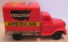 Old Tin & Plastic Friction Toy Advertising Truck Express American Japan 1960s