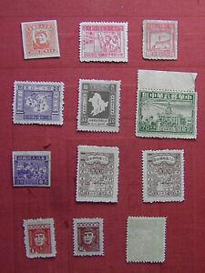 China 1947/48 Liberated Aereas Part sets 12 stamps See Photo