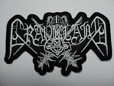 graveland  white shaped logo    EMBROIDERED PATCH