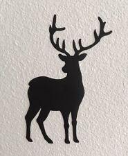 Piccolo Cervo Nero Vinile Adesivi Decalcomanie x3 iPhone Laptop vetro parete Party Crafts