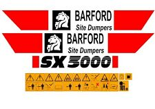 BARFORD SX3000 DUMPER DECALS